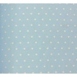 40 Hojas de papel de seda azul claro, lunares