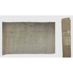 Mantel de tela de saco-yute natural. Pieza de 1.37 m x 2.74 m. Agotado temporalmente