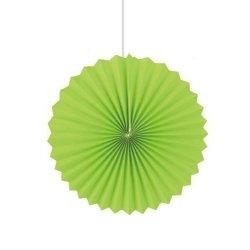 Abanicos de papel verde. 25 cms