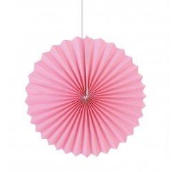 Abanico de papel rosa. 35 cms