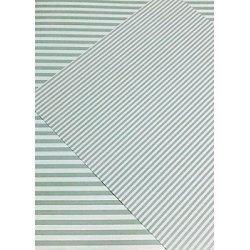 10 Hojas de papel A4, impreso a doble cara. Rayas verde mint.