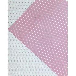 10 Hojas de papel A4, impreso a doble cara. Estrellas rosa.