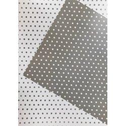10 Hojas de papel A4, impreso a doble cara. Estrellas grises