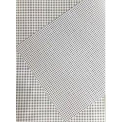 10 Hojas de papel A4, impreso a doble cara. Cuadros vichy grises