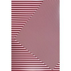 10 Hojas de papel A4, impreso a doble cara. Rayas rojas