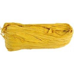 Rafia natural teñida. 50 grs. Amarilla