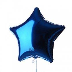 Globo metalizado estrella azul