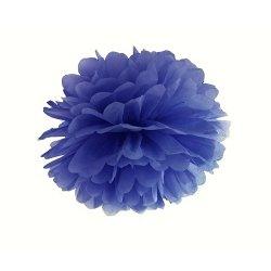 Pompón azul marino. 25 cms