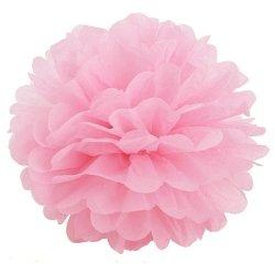 Pompón rosa. 30 cms