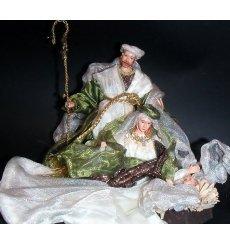 Nacimiento/belén/misterio blanco y verde 1 pieza h.20 ms