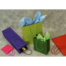 Bolsa de papel semilujo, colores lisos. 45x49x16 cms. C/12 uds.
