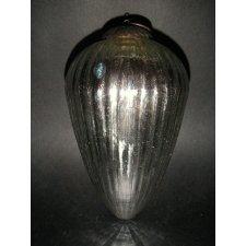 3 Bolas de cristal gallonada plata 20 cms