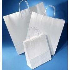 Bolsa de papel con asa retorcida, 22x9x23 paquete de25 uds
