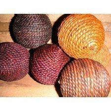 12 Bolas de cuerda natural 4 tonos stdos