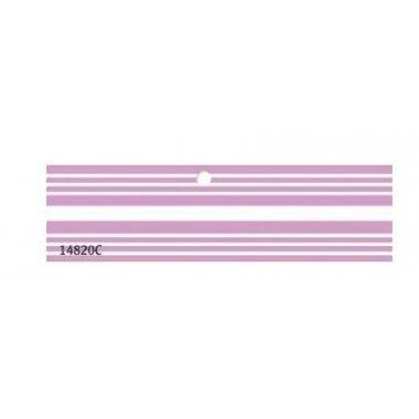 Etiqueta colgante rayas lila hoja de 20 uds