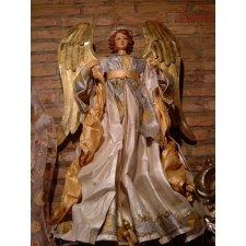 Ángel blanco y oro, 1 m