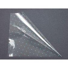 Bobina polipropileno transparente con motas 100 CMS X 50 M. Varios colores
