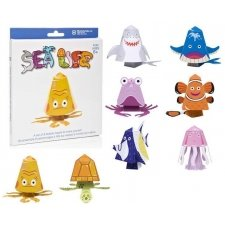 Bobble head sea life - Pack 8 bobblings para construir
