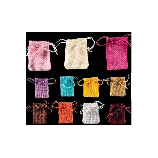 12 Sacos de yute. Varios colores