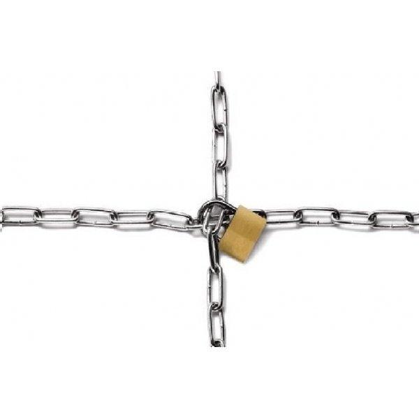 Papel cadena + candado 50x70 cms c/2 uds
