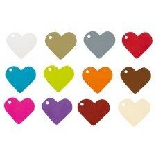 Etiqueta colgante corazón 10 uds. Especial San Valentín