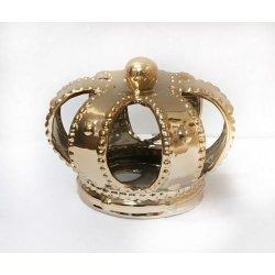 Corona de reyes magos, cerámica oro 16x16 cms