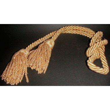 Cordón dorado con 2 borlas 1.6 m