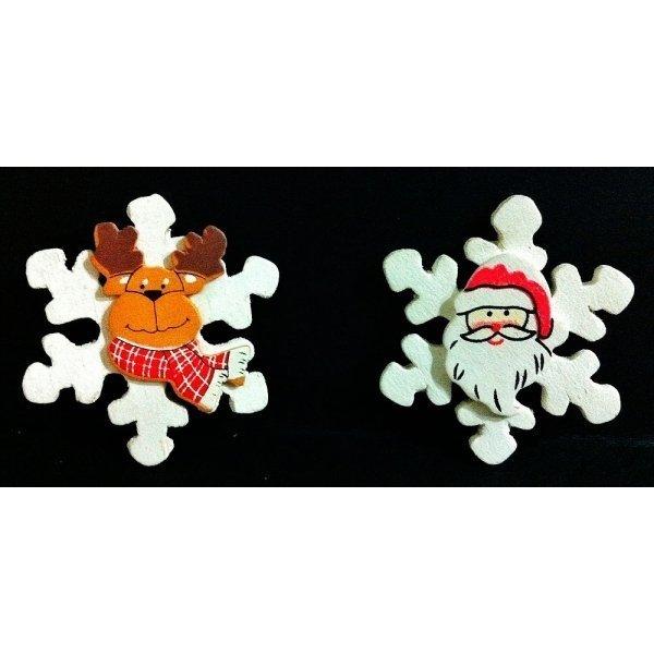 Estrella de nieve con carita c 36 uds for Estrella de nieve
