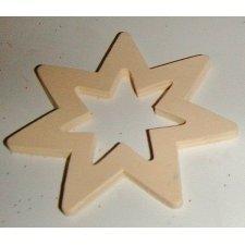 36 Estrellas de madera, natural