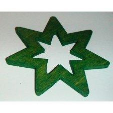 36 Estrellas de madera, verde