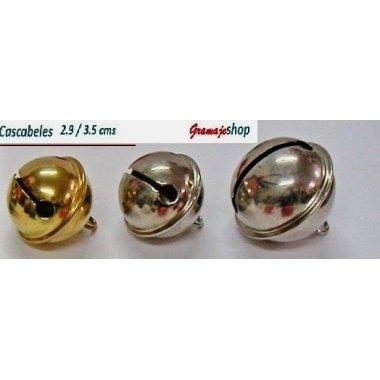 25 Cascabeles oro o plata 29 mm