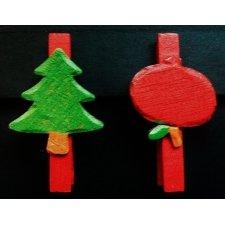 12 Pinzas navideñas