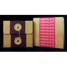 Caja de regalo chocolate 10x10x9 cms. 2 colores. C/5 uds