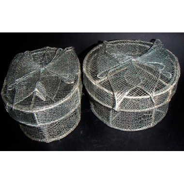 Cajas de regalo abaca gris/plata con lazo. 4 uds surtidas