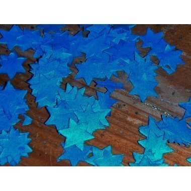 Confeti estrellas azules. 500 grs