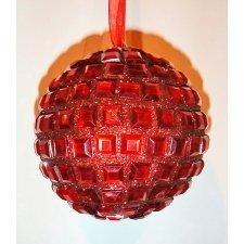 3 Bolas cristales rojos 10 cms