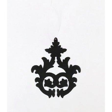 6 Colgantes arabesco negro 9 cms