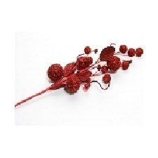 3 Ramas bolas rojas 55 cms
