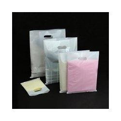 100 Bolsas de plástico hielo, con asa troquelada. 20x30 cms