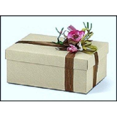 Caja de regalo marfil fondo+tapa 38x26x11 cms.