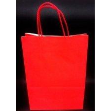 Bolsa cordino 23x12x32 roja. C/25 unidades