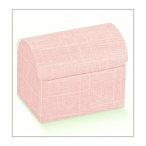 Caja de regalo baúl rosa 13x9x9.5 cms C/10 uds