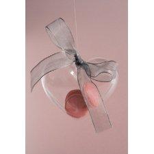 Caja de regalo con forma de corazón transparente. 8 cms. C/5 uds