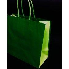 Bolsa bicolor verde / 2 tonos 25x12x24 C/5 unidades