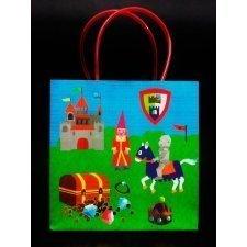 5 Bolsas de pape Princesas y Caballeros 18x8x18