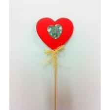 Corazón pick madera/zinc 8x8+30 C/6 uds