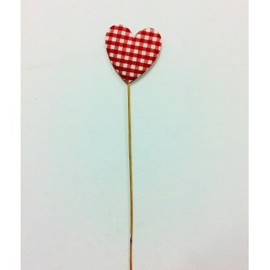 Corazón pick vichy 8x8+50 C/6 uds
