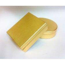 Caja lacada oro. Aprox 12x12x5 C/4 uds surtidas