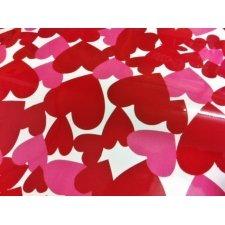 Papel adhesivo corazones 80x110 cms