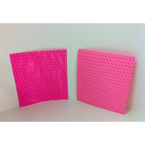 Sobre de regalo, rosa con motas 8.5x10 cms. C/50 uds